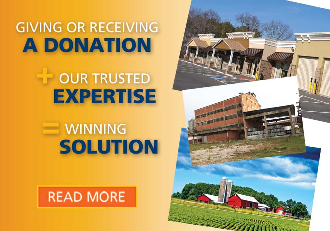 Giving or Receiving a Donation + Our Trusted Expertise = Winning Solution